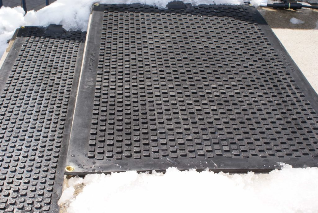 Heated mats in snow picture