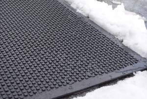 Image of a heated mat in snow
