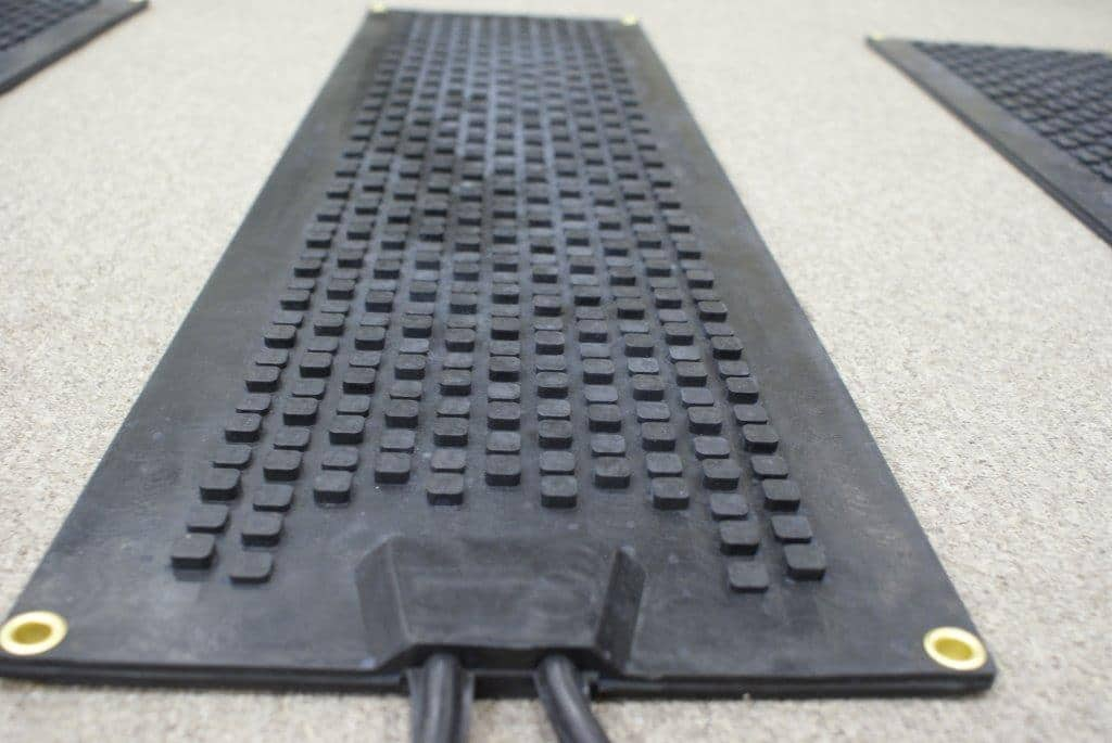 Alternate angle Close up of heating mat designed for stairs