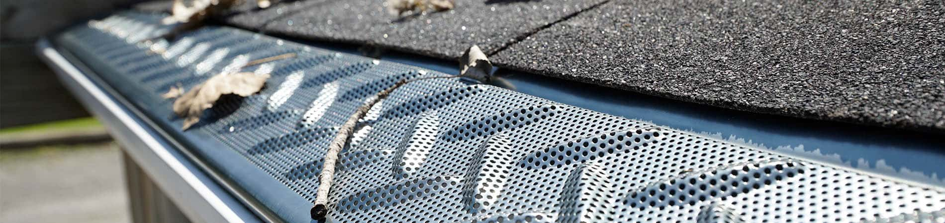 Tek-Mesh on gutters